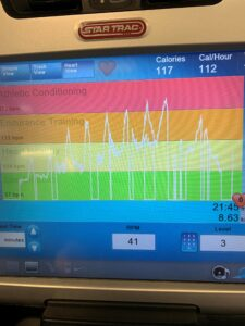 Image of my heart rate during HIIT training.